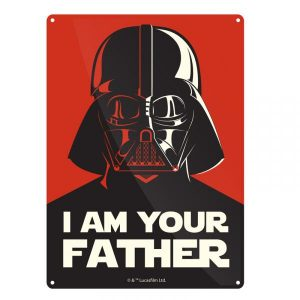 Star Wars Tin Sign – Darth Vader I am your Father
