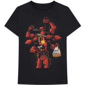 Crazy Deadpool  – Black T-Shirt