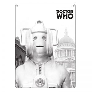 Doctor Who – Large Tin Sign – Greyscale CyberMan