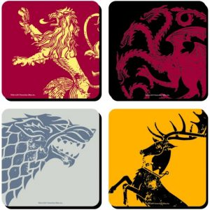 Coasters Set of 4- Game of Thrones  sigils
