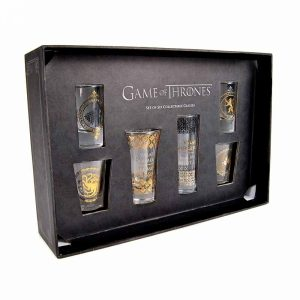 Game of Thrones 6 Premium Gold Leaf Shot Glass Set