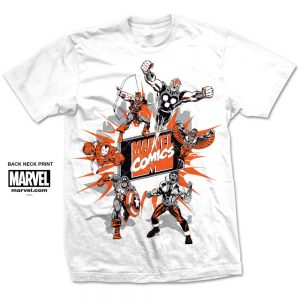 Marvel Comics Marvel Montage 2.' design motif. Tee Shirt