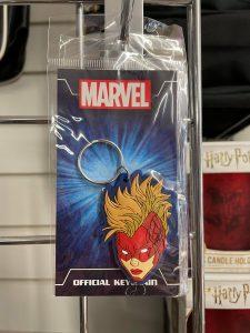 Captain Marvel Rubber Keyring