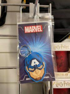 Captain America Rubber Keyring