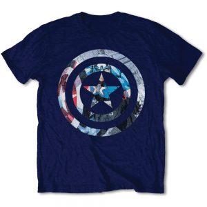 Marvel Comics Unisex 'Captain America Knock-out' Tee Shirt