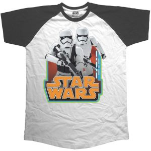 Star Wars Unisex Raglan 'Classic Troopers & Logo' Tee Shirt